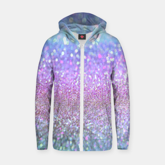 Miniature de image de Purple lilac glitter Cotton zip up hoodie, Live Heroes