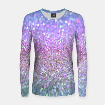 Miniature de image de Purple lilac glitter Woman cotton sweater, Live Heroes