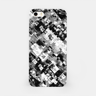 Thumbnail image of Black and White Patchwork Grunge iPhone Case, Live Heroes