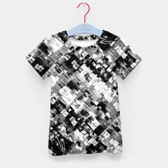 Thumbnail image of Black and White Patchwork Grunge Kid's t-shirt, Live Heroes