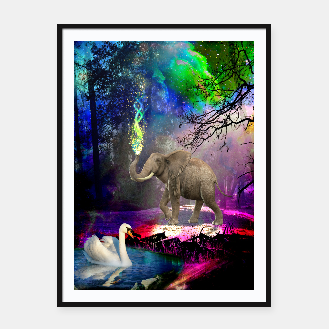 Image of Magical forest Framed poster - Live Heroes