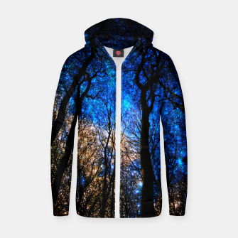 Thumbnail image of magical forest Cotton zip up hoodie, Live Heroes