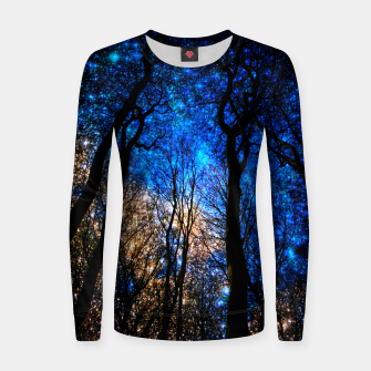 Thumbnail image of magical forest Woman cotton sweater, Live Heroes