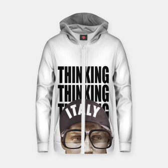 Thumbnail image of THINKER Cotton zip up hoodie, Live Heroes