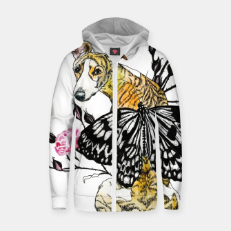 Thumbnail image of whippetwings Cotton zip up hoodie, Live Heroes
