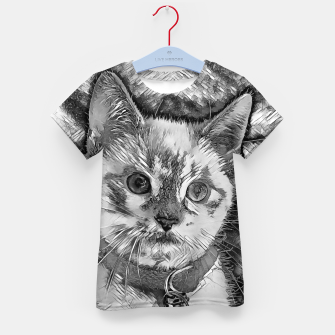 Thumbnail image of AnimalArtBW_Cat_013_by_JAMFoto Kid's t-shirt, Live Heroes
