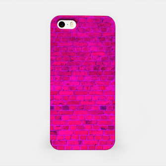 Thumbnail image of Bright Neon Pink Brick Wall iPhone Case, Live Heroes