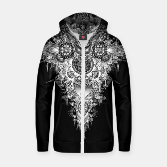 Thumbnail image of Anosognosia - Mandala indian flowers Cotton zip up hoodie, Live Heroes