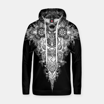 Thumbnail image of Anosognosia - Mandala indian flowers Cotton hoodie, Live Heroes