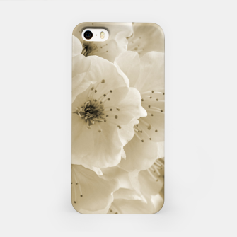 Thumbnail image of Monochrome Blossoms Close-up iPhone Case, Live Heroes