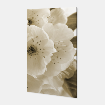Thumbnail image of Monochrome Blossoms Close-up Canvas, Live Heroes