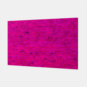 Thumbnail image of Bright Neon Pink Brick Wall Canvas, Live Heroes