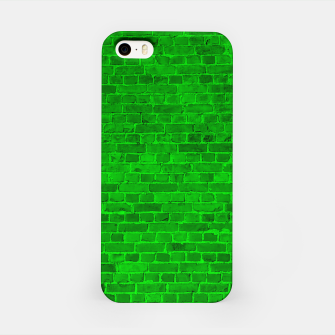 Thumbnail image of Bright Neon Green Brick Wall iPhone Case, Live Heroes