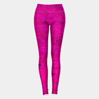 Miniaturka Bright Neon Pink Brick Wall Leggings, Live Heroes