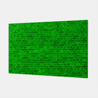 Thumbnail image of Bright Neon Green Brick Wall Canvas, Live Heroes