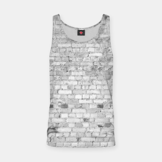 Miniature de image de White Washed Stone Brick Wall Tank Top, Live Heroes
