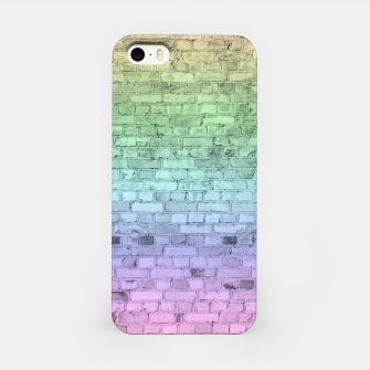 Thumbnail image of Pastel Rainbow Brick Wall Pattern iPhone Case, Live Heroes
