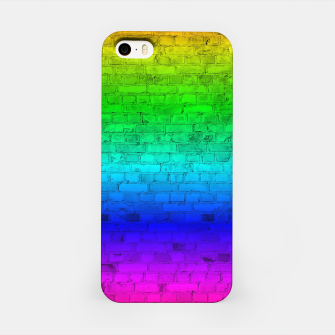 Thumbnail image of Neon Rainbow Brick Wall iPhone Case, Live Heroes