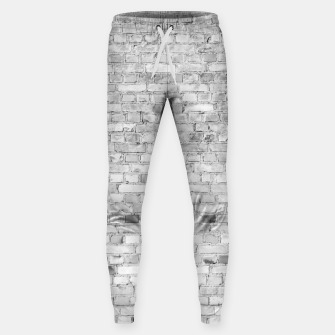 Thumbnail image of White Washed Stone Brick Wall Cotton sweatpants, Live Heroes