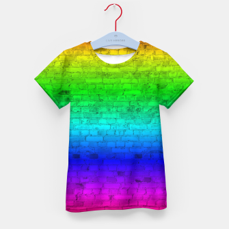 Thumbnail image of Neon Rainbow Brick Wall Kid's t-shirt, Live Heroes