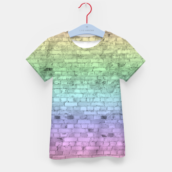 Thumbnail image of Pastel Rainbow Brick Wall Pattern Kid's t-shirt, Live Heroes