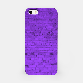 Thumbnail image of Neon Purple Brick Wall iPhone Case, Live Heroes