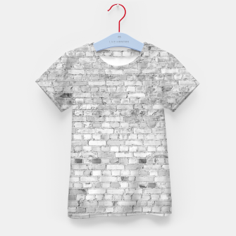 Thumbnail image of White Washed Stone Brick Wall Kid's t-shirt, Live Heroes