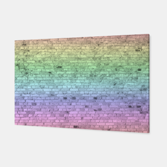 Thumbnail image of Pastel Rainbow Brick Wall Pattern Canvas, Live Heroes