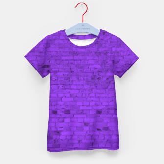 Thumbnail image of Neon Purple Brick Wall Kid's t-shirt, Live Heroes