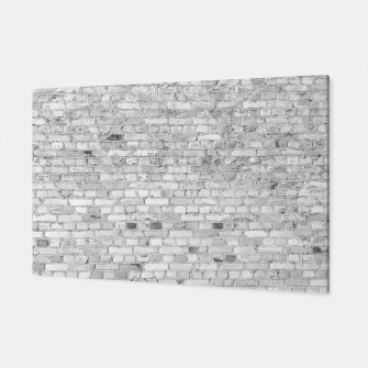 Miniature de image de White Washed Stone Brick Wall Canvas, Live Heroes