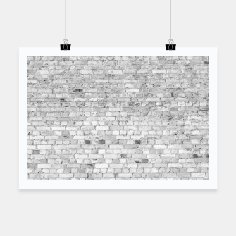 Miniature de image de White Washed Stone Brick Wall Poster, Live Heroes