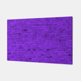 Thumbnail image of Neon Purple Brick Wall Canvas, Live Heroes