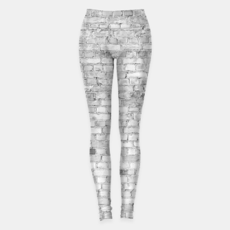 Miniaturka White Washed Stone Brick Wall Leggings, Live Heroes