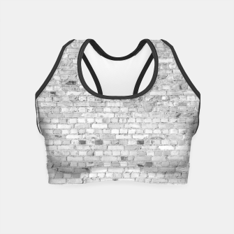 Miniature de image de White Washed Stone Brick Wall Crop Top, Live Heroes