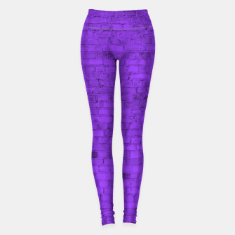 Miniaturka Neon Purple Brick Wall Leggings, Live Heroes