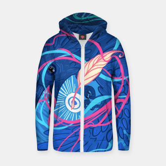 Thumbnail image of A Raven Memory Cotton zip up hoodie, Live Heroes