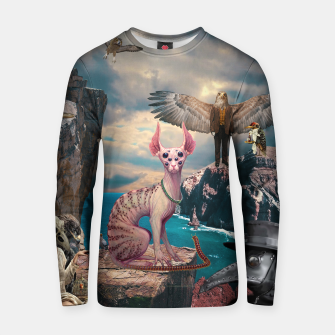 Thumbnail image of Birds with Cat Cotton sweater, Live Heroes
