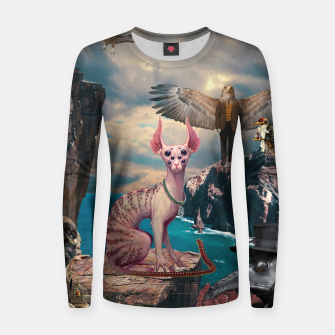 Thumbnail image of Birds with Cat Woman cotton sweater, Live Heroes