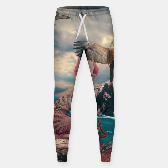 Thumbnail image of Birds with Cat Cotton sweatpants, Live Heroes