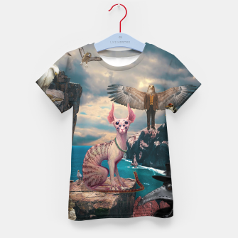 Thumbnail image of Birds with Cat Kid's t-shirt, Live Heroes