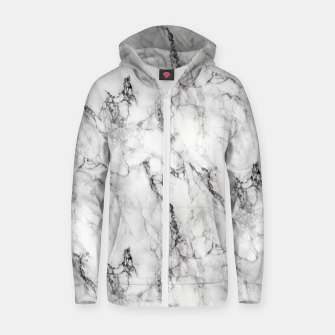 Thumbnail image of Monochrome Marble Cotton zip up hoodie, Live Heroes