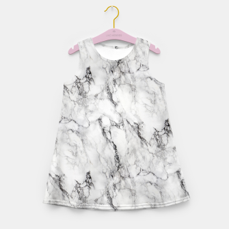 Thumbnail image of Monochrome Marble Girl's summer dress, Live Heroes