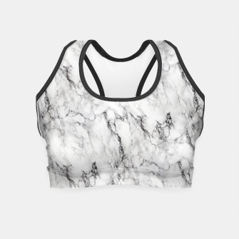 Thumbnail image of Monochrome Marble Crop Top, Live Heroes