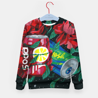 Thumbnail image of COSMIC DRINK Kid's sweater, Live Heroes
