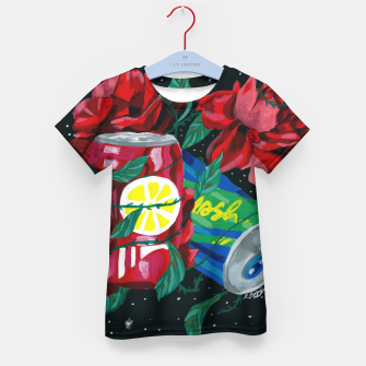 Thumbnail image of COSMIC DRINK Kid's t-shirt, Live Heroes