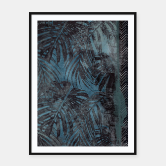 Thumbnail image of tropical pattern Plakaty w ramie , Live Heroes