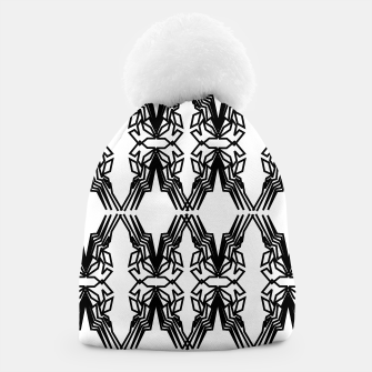 Miniatur Luxury design beanie, black white Ornaments, Live Heroes