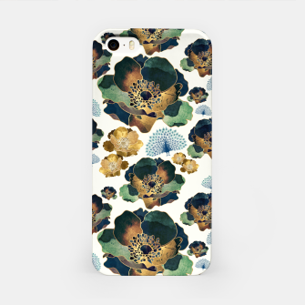 Thumbnail image of Indigo Flowers and Peacocks iPhone Case, Live Heroes