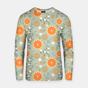 Thumbnail image of Oranges with White Flowers Cotton sweater, Live Heroes