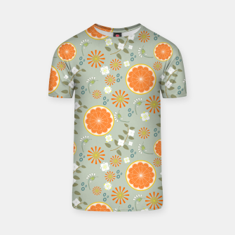 Miniature de image de Oranges with White Flowers T-shirt, Live Heroes